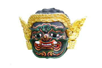 Thai traditional giant mask for actor