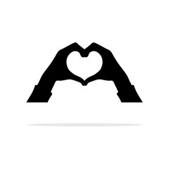 Hands heart gesture icon. Vector concept illustration for design.
