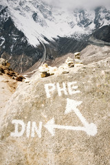 Directions in the Himalayas