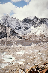 The Khumbu Glacier in the Himalayas
