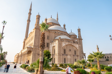 Alabaster Mosque Mohammed Ali at Citadel in Cairo, Egypt.