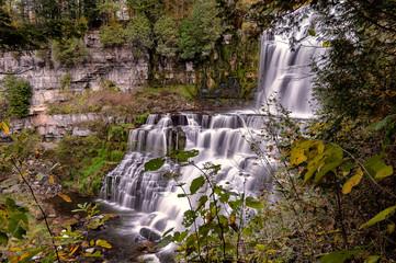 Scenic View of Chittenango Falls is Located in Cazenovia, New York, USA - A Beautiful Travel Destination