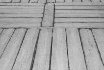 Gray concrete walkway in plank patterns texture for natural background