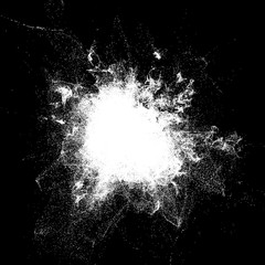3d render background with abstract particles. White luma mask.