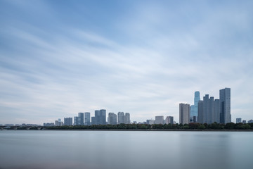Wall Mural - changsha skyline and xiangjiang river