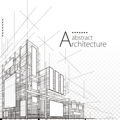 Architecture building construction urban 3D design abstract background.