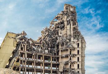 Hochhausruine Abriss City Nord Hamburg