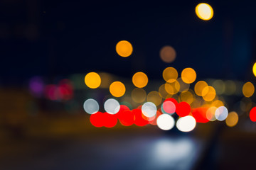Blurred cityscape view, abstract light background
