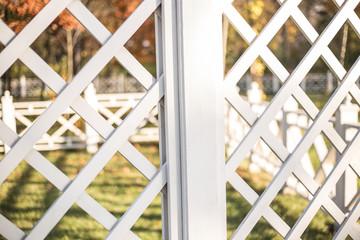 Wooden white lattice