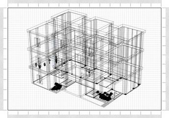 Building 3D blueprint