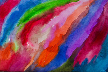 bright watercolor background,Color line
