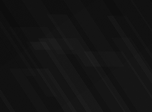 Abstract lines pattern technology on black gradients background.