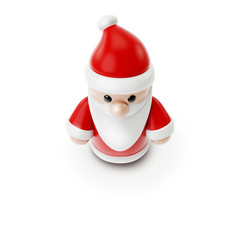 small Santa Claus figure from above