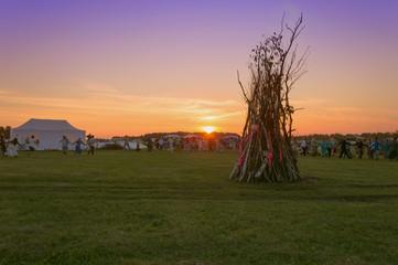 sunset and round dance