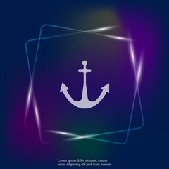 Ship's anchor vector neon light  icon. Anchor  vector illustration. Layers grouped for easy editing illustration. For your design.