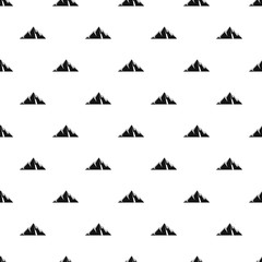 Pointing mountain pattern seamless vector repeat geometric for any web design