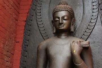 head of buddhist statue