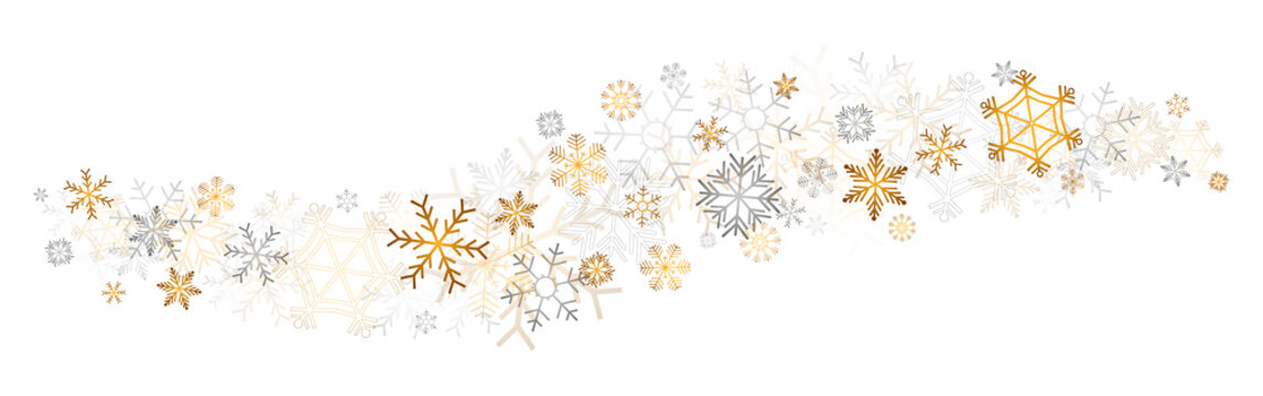 gold snowflakes decor