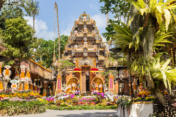 Temple and garden of the Ubud Palace, Bali, Indonesia