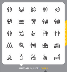 Life, Human, Person, Icons, Vector and Illustration