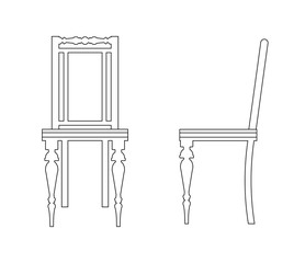 Vintage chair outline.