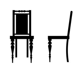 Vintage chair silhouette.