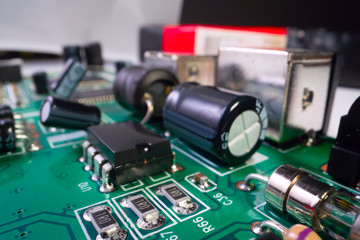 Electronic Board. Inside electronic device