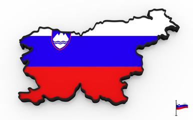 Slovenia high detailed 3D map