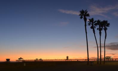 Huntington Beach Pier Los Angeles by Night
