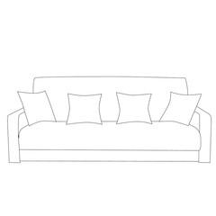 sketch of a sofa