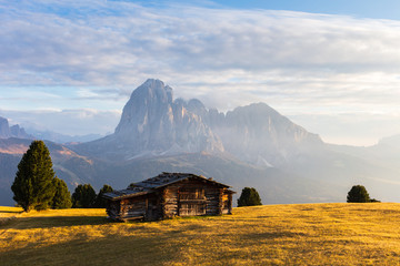 South Tyrol mountains at sunset
