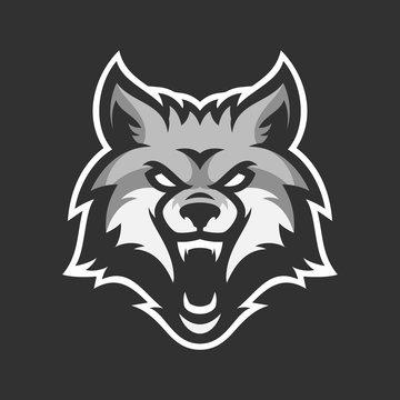 Animal head mascot gaming logo