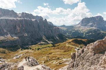 Kletterer am Klettersteig auf die Gran Cir