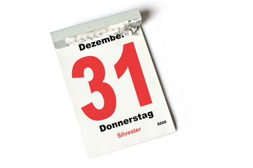 31. Dezember 2020 Silvester