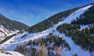 Soldeu ski resort in Andorra at Grandvalira