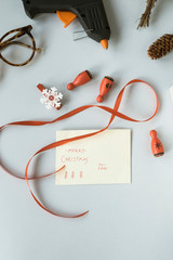 Writing Christmas cards
