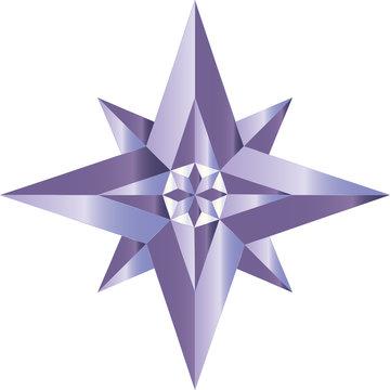 star shaped geometric logo