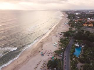 Indonesia, Bali, Aerial view of Padma beach