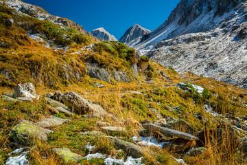 Weg zum Eisjöchl im Herbst
