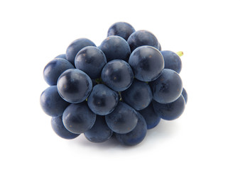 Plump Kyoho grapes (giant mountain grapes) isolated on white.