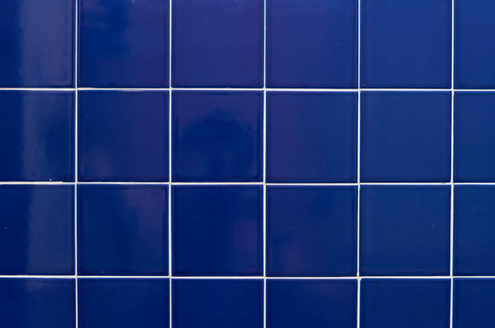 blue square tile in the bathroom background