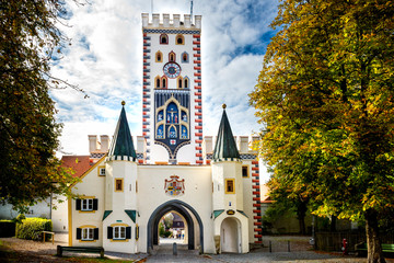 Landsberg am Lech - Bayertor, historic town gate. Bavaria, Germany.