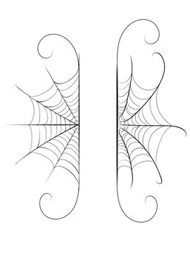 Decorative spider web border