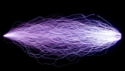 The trajectory of a spark electric discharge.