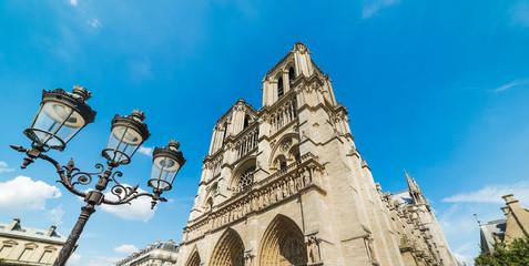 World famous Notre Dame cathedral in Ile de la Cite