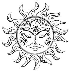 Tattoo sleeping sun