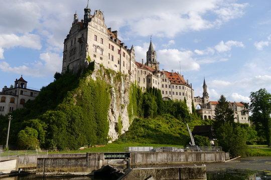 Felsen und Schloss in Sigmaringen