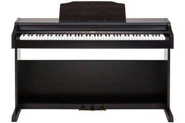 brown piano isolated