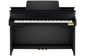 black piano isolated