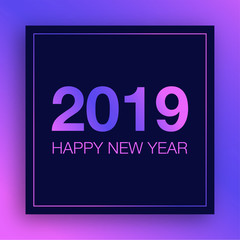 2019 happy new year with cosmic background